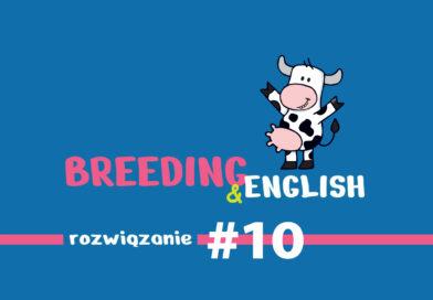 Breeding & English – rozwiązanie #10 / 2021